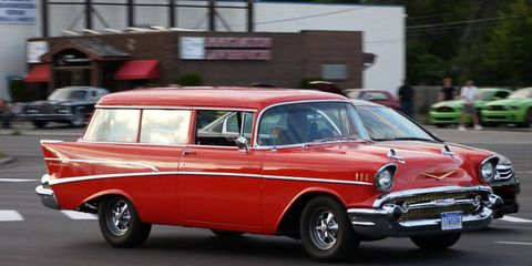 A '57 Chevrolet Wagon at the 2013 Woodward Dream Cruise Chevrolet