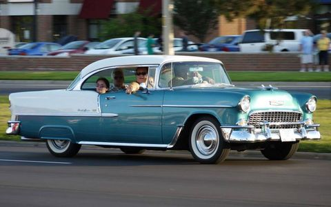 A Chevrolet Bel-Air at the Woodward Dream Cruise