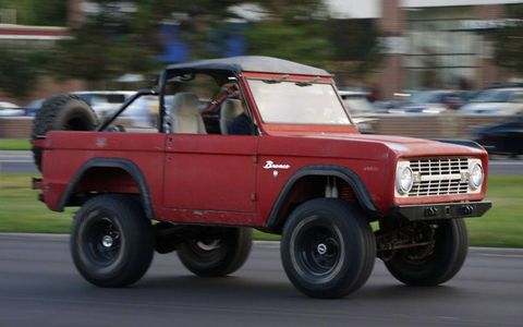 A Ford Bronco at the Woodward Dream Cruise