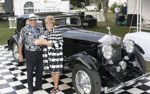 Frank and Milli Ricciardelli of Monmouth Beach, New Jersey, are the inaugural recipients of the Honored Collector award from the Hilton Head Island Concours.