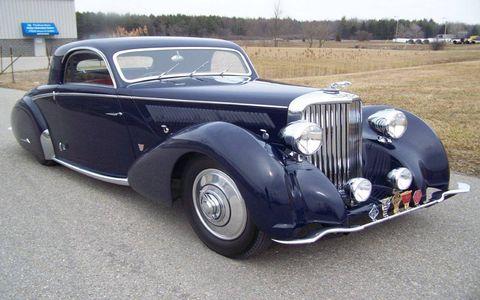 Frank and Milli Ricciardelli's 1938 Jaguar.