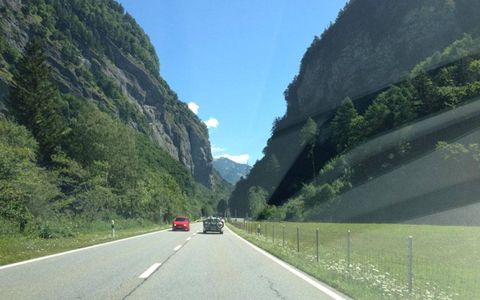 One of the lower points on the way to Davos, Switzerland.