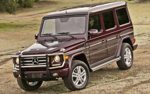 Front three-quarter of the Mercedes-Benz G550