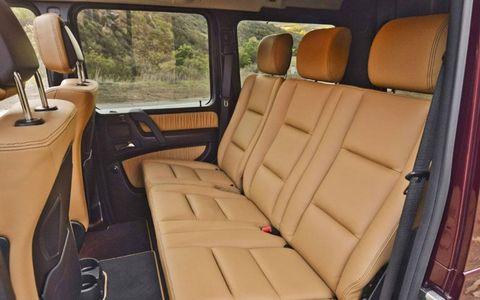 The rear interior in the Mercedes-Benz G550