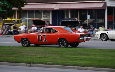 Any bet on whether a couple good ol' boys are driving this General Lee Charger down Woodward?