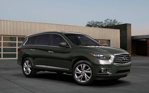 The new 2012 Infiniti JX crossover will likely follow the lines of the JX Concept revealed today in Monterey ahead of the Pebble Beach Concours.