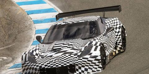 The Corvette C7.R made its on-track debut in Monterey, Calif., on Saturday.