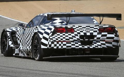 This is the view of the Corvette C7.R that Corvette Racing hopes the competition sees a lot in 2014.
