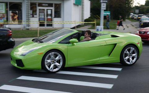 Lime Lamborghini Gallardo Spyder