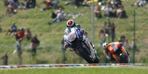 Czech Republic Brno 13-15 August 2010 Ben Spies Monster Yamaha Tech 3 leads Casey Stoner Ducati Marlboro Team