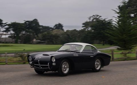 1954 Pegaso Z-102 B Saoutchik Coupe participating in the 2012 Pebble Beach Tour.