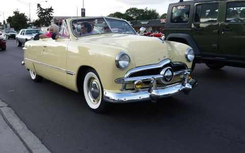 This Ford convertible sums up the glory that is the Woodward Dream Cruise.