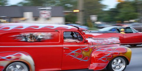 Flame job at the Woodward Dream Cruise!