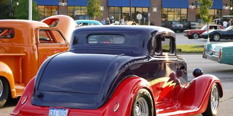 Ford hot rod from behind at the 2012 Dream Cruise