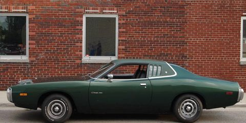 Mean-looking Charger on Woodward Avenue.