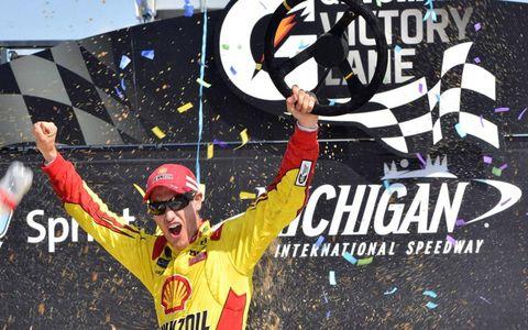Joey Logano won at Michigan on Sunday.