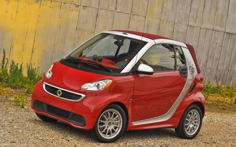 The 2013 Smart Fortwo Electric Drive is equipped with a 55-kW electric motor mated with a one-speed gearbox.