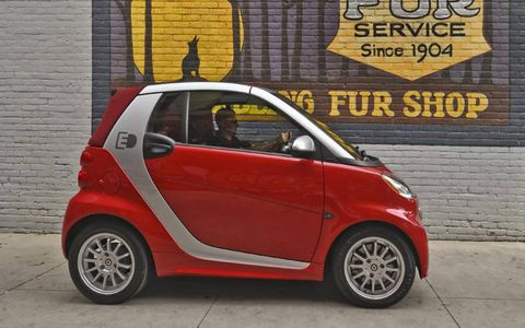 Color combinations for the 2013 Smart Fortwo EV are nearly limitless.