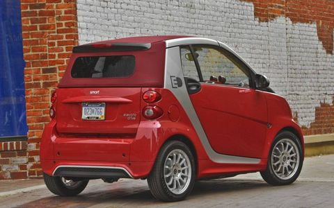 The 2013 Smart Fortwo EV is available in both a coupe and convertible models.