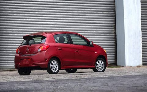 The 2014 Mirage will battle the likes of the Mazda 2, Ford Fiesta, and Nissan Versa Note.