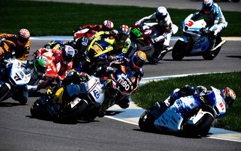 Action from the Red Bull MotoGP at Indianapolis on Sunday.