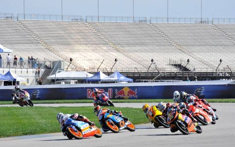 The Red Bull MotoGP took over the Indianapolis Motor Speedway on Sunday.
