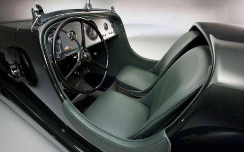 Inside the restored 1934 Model 40 Special Speedster.