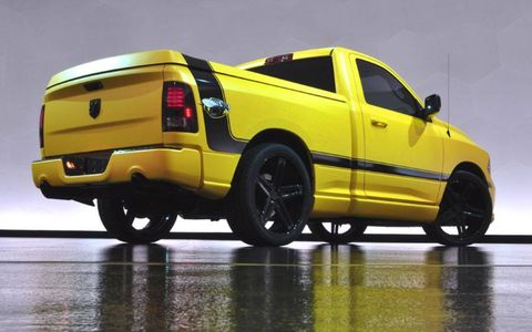 The Ram Rumble Bee Concept from Woodward is based on the 2013 Ram 1500 R/T.