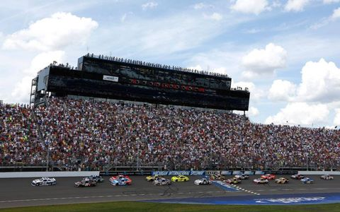The start of the Pure Michigan 400 at Michigan International Speedway.
