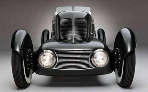 The rather unusual front end of the Model 40 Special Speedster.