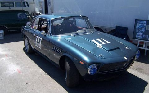 An Iso Rivolta racer -- I've seen both a Rivolta and a Grifo here in Monterey this year, and I think Iso may be my new favorite Italian marque.