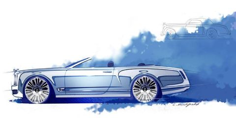The Bentley Mulsanne convertible concept, which debuted at Pebble Beach, takes the current Mulsanne and drops the top.
