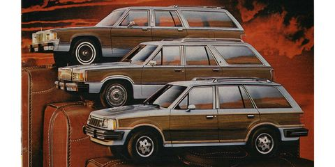 From back in the days when a single marque offered three completely different station wagons.