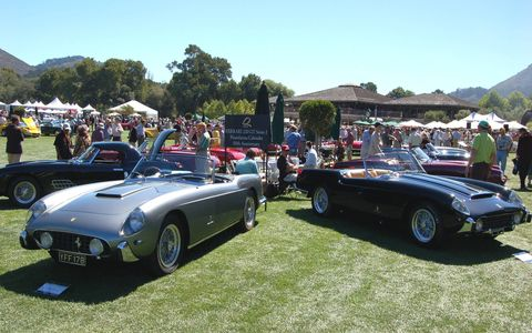 A couple of Ferrari 250 GT Series Ones from the 2007 Pebble Beach Automotive Weekend