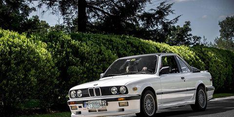 A rare BMW E30 Baur cabrio, one of just a handful we've seen.