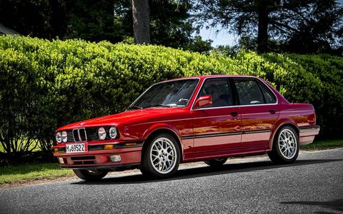 Here's a sharp E30 sedan, which seemed to be in excellent condition throughout.