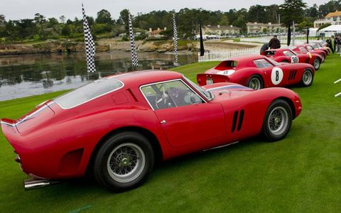 22 Ferrari GTOs were on hand to celebrate the 50th anniversary of the car.