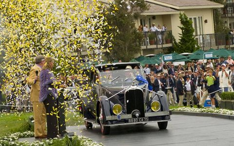 Peter Mullin's 1934 Voisin C-25 Aerodyne was named Best in Show at the 2011 Pebble Beach Concours d'Elegance on Sunday.