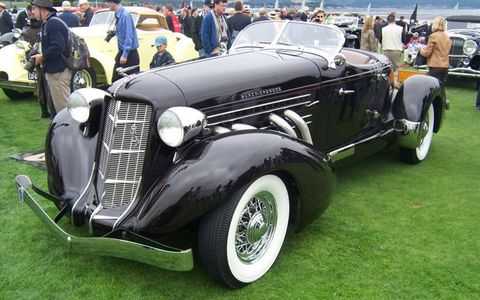 My personal vote for best in show: A 1936 Auburn 852 Supercharged Speedster; photos don't do this beauty justice.
