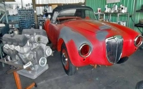 "The whole package: A ""complete for the most part"" 1956 Lancia Aurelia B24 Spyder project."
