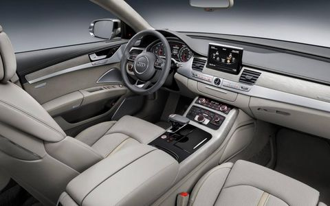 New tech features are integrated into the 2015 Audi A8 cabin.