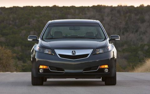Front view of the 2013 Acura TL SH-AWD