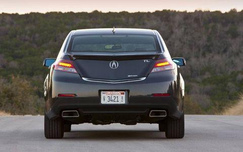 Rear shot of the 2013 Acura TL SH-AWD