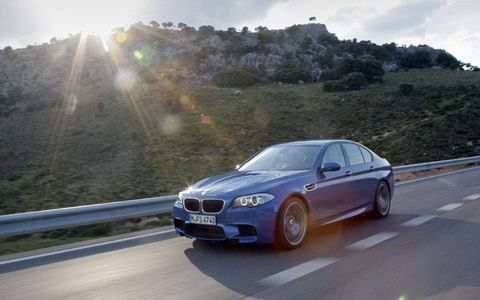 The 2013 BMW M5 has 560hp underneath the hood