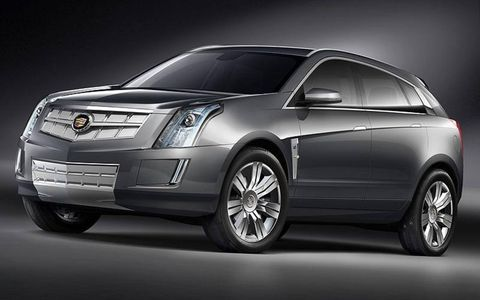 The redesigned Cadillac SRX will look much like the Provoq concept, shown.