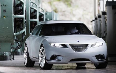 Saab gets the 9-4x added to its lineup. The concept is shown.