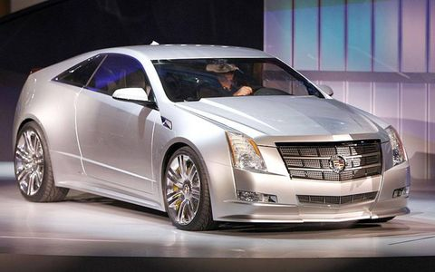 Cadillac will add a coupe, shown, and a wagon to the CTS lineup.