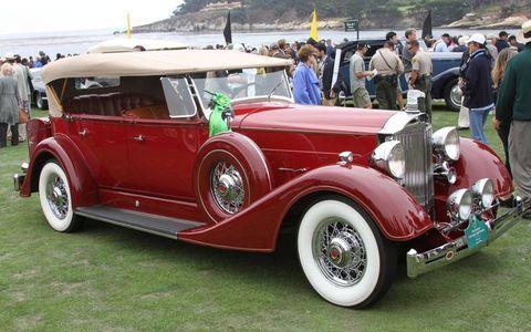 A 1934 Packard 1104 Super 8 Phaeton