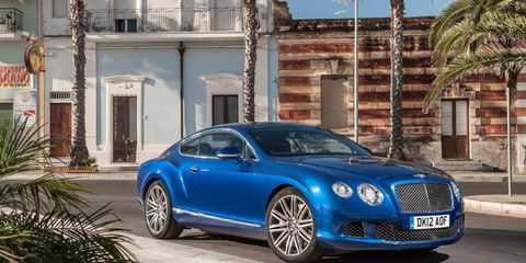 """Bentley claims the Continental GT Speed, it's new """"performance flagship,"""" is the fastest production Bentley ever."""