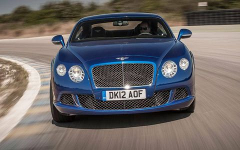 The turbocharged W12 engine tucked behind that grille can propel the GT Speed from 0-60 mph in just 4 seconds.